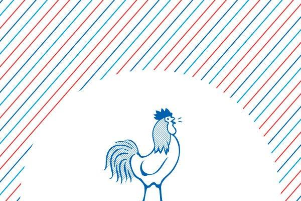 Coq du logo Croquorico